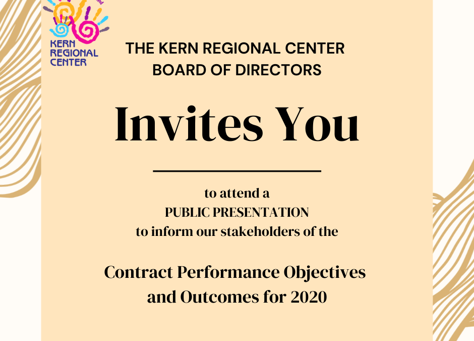 Contract Performance Objectives and Outcomes for 2020